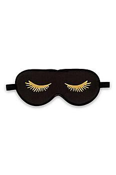 Black Satin Eyelashes Eye Mask 4799