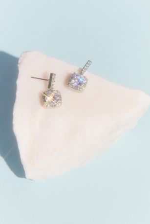 Statement Crystal Stud Earrings with Pave Halo