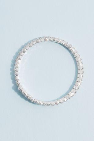 Crystal Coil Wrap Stack Bracelet