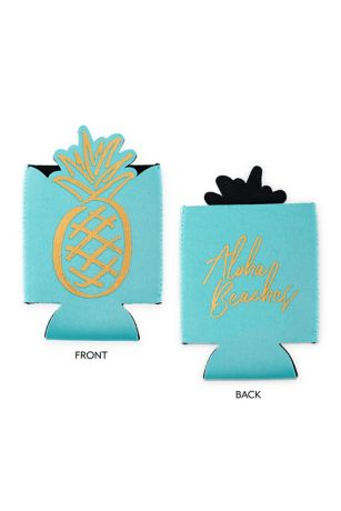 Neoprene Foam Koozie Aloha Beaches Bachelorette