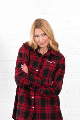 Personalized Embroidered Plaid Button Down Shirt