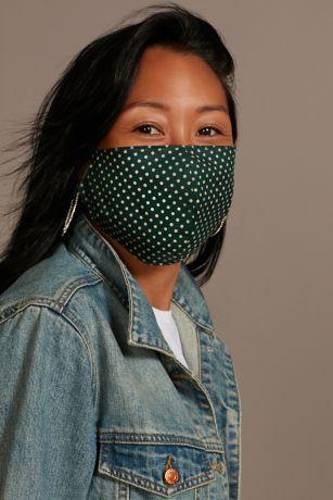 Polka Dot Face Mask with Adjustable Ear Loops