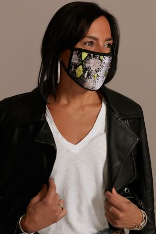 Snakeskin Face Mask with Neon Accents
