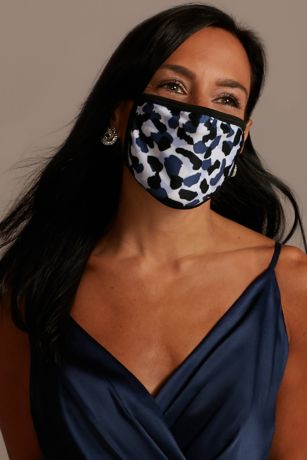 Snow Leopard Printed Cloth Fashion Face Mask