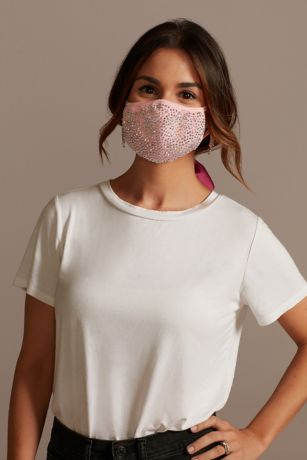 Crystal Cloth Face Mask with Adjustable Ear Loops