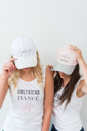 Bridal Party Glitter Brim Trucker Hat