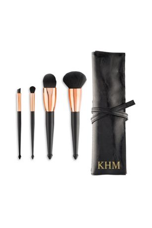 Personalized Makeup Brush Set and Travel Pouch