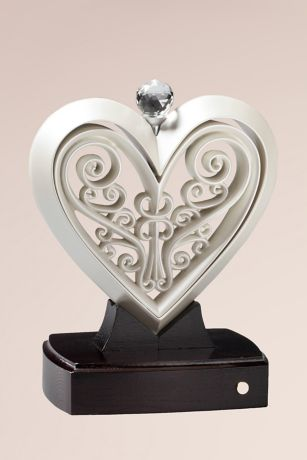 Timeless Pearlescent Unity Heart Sculpture