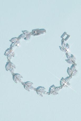Marquise Cut Crystal Leaflet Bracelet
