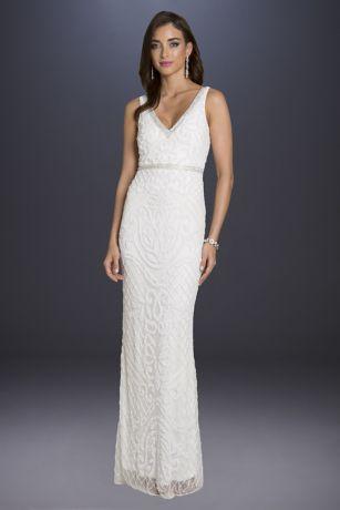 Long Sheath Wedding Dress - Lara