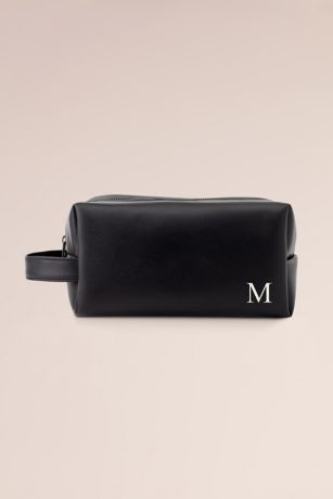 Monogram Vegan Leather Toiletry Bag with Handle