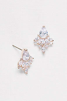 Faceted Crystal Statement Stud Earrings
