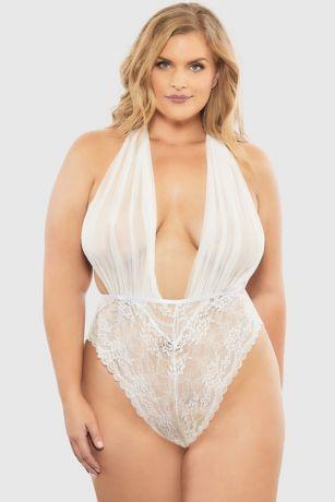 Oh La La Cheri Aria Plus Size Mesh Bodysuit