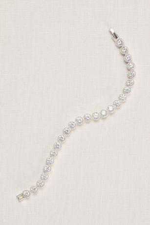 Pave Circles Cubic Zirconia Tennis Bracelet