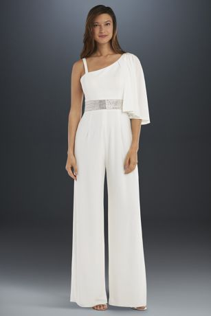 Long Jumpsuit Wedding Dress - RM Richards