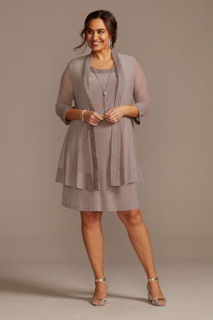 Short Sheath Jacket Dress - RM Richards
