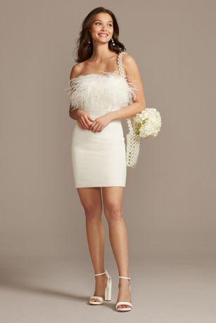 Short Sheath Strapless Dress - Bardot