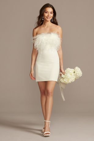 Short Sheath Strapless Dress - DB Studio