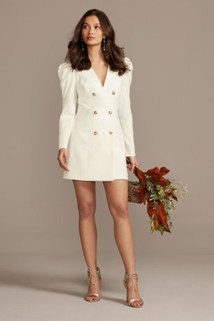 Short Sheath Long Sleeves Dress - Bardot