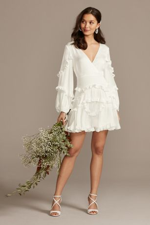 Short A-Line Long Sleeves Dress - DB Studio