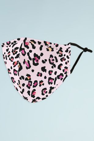 Pink Leopard Mask with Adjustable Ear Loops