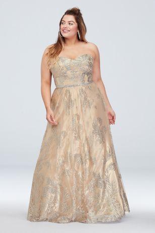 Long Ballgown Strapless Dress - Cachet