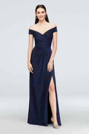 Off-the-Shoulder Faille Mermaid Gown
