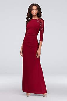 Long Mermaid/ Trumpet 3/4 Sleeves Formal Dresses Dress - Cachet