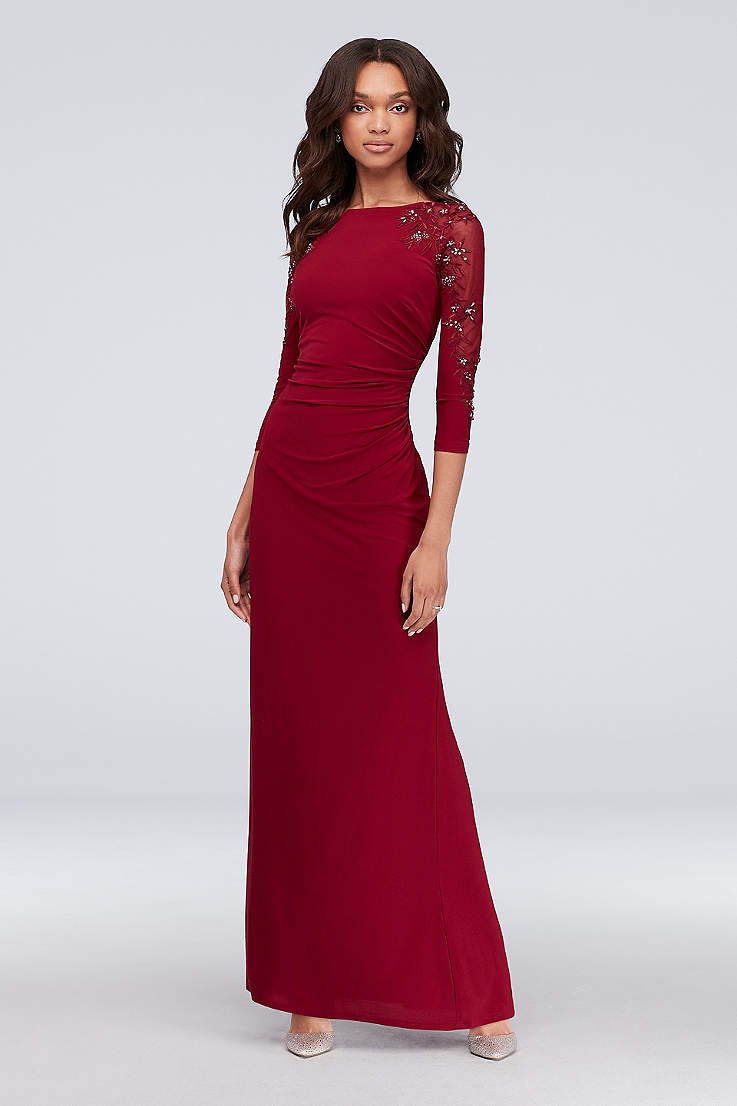 aeebe4fddc9b3 3/4 Sleeves Formal Dresses | David's Bridal
