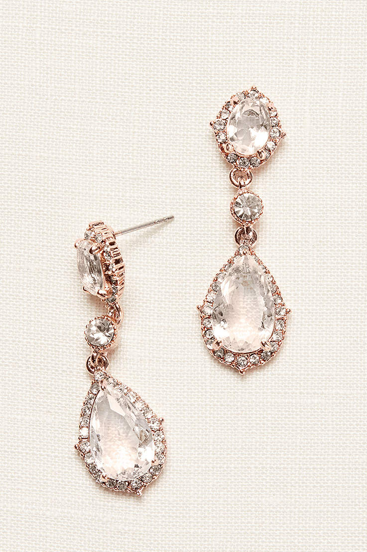 Filigree and Crystal Drop Earrings 31a7f428d87c
