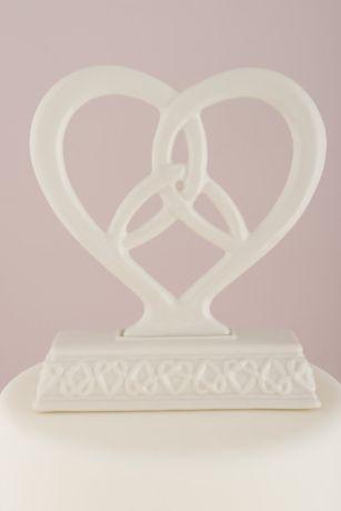 Heart Framed Trinity Knot Cake Topper