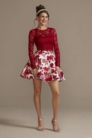 Short Ballgown Long Sleeves Dress - City Triangles