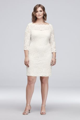 Short Sheath 3/4 Sleeves Dress - Jump