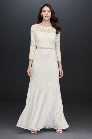 Long Sheath Wedding Dress - Jump