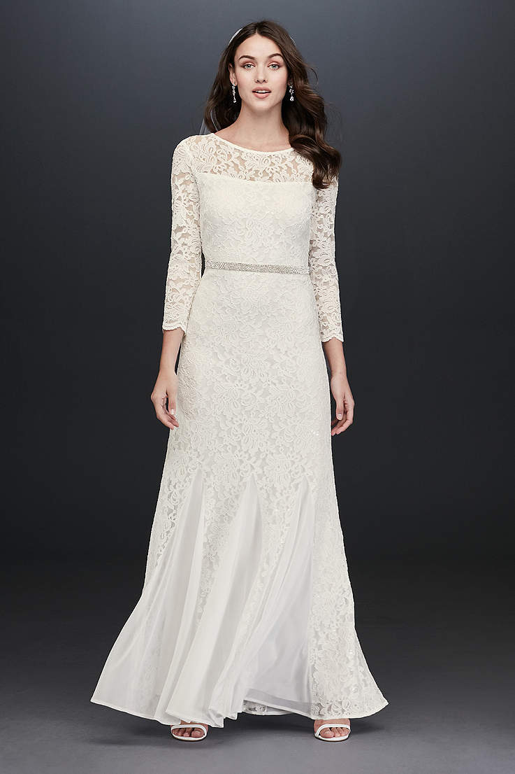 1387cb867e1 Long Sheath Wedding Dress - Jump