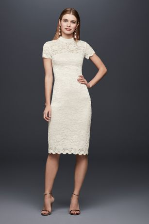 Short Sheath Short Sleeves Dress - DB Studio