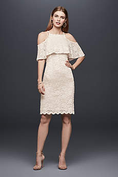 Short Sheath Boho Wedding Dress - DB Studio