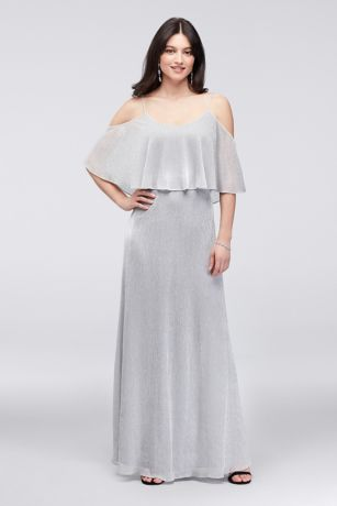Sparkling Off-the-Shoulder Dress with Flounce