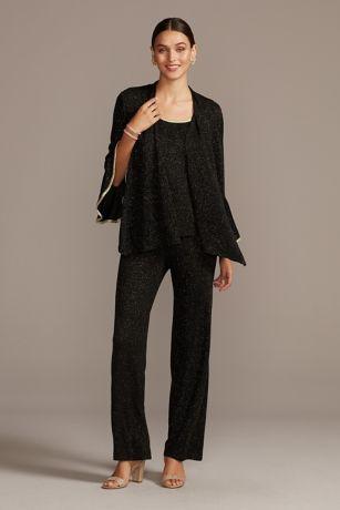 Long Jumpsuit Jacket Dress - Onyx