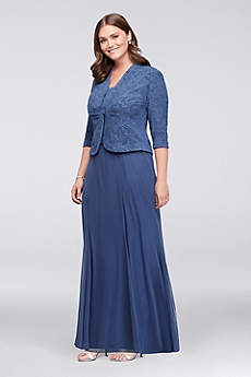 Long Sheath Jacket Formal Dresses Dress - Alex Evenings