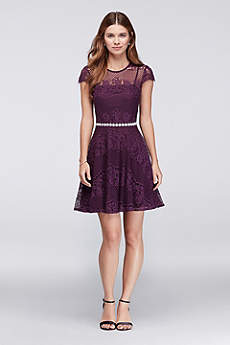 Short A-Line Cap Sleeves Cocktail and Party Dress - City Triangles