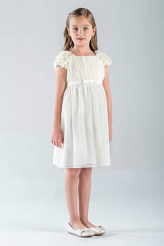 Cheap flower girl dresses davids bridal petal sleeve chiffon a line flower girl dress mightylinksfo