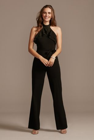 Long Jumpsuit Halter Dress - Bebe