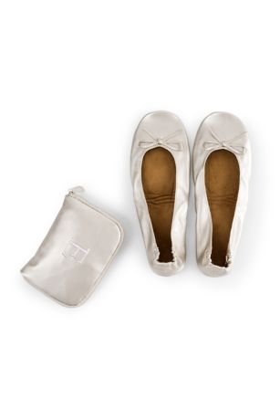 Ivory Slippers (Personalized Pocket Shoes)