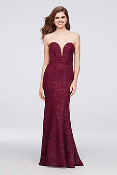 Long Mermaid/ Trumpet Strapless Formal Dresses Dress - Xscape