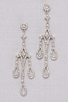 Crystal Teardrop  Chandelier Earrings