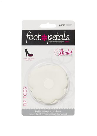 Foot Petals White Shoe Accessories (Foot Petals Tip Toes)
