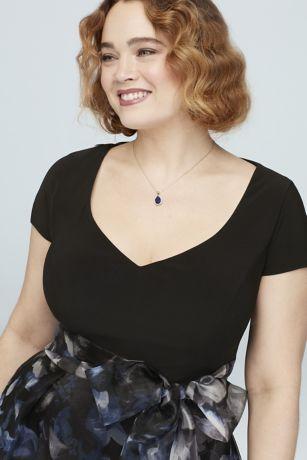 Pear Sapphire Pendant Necklace