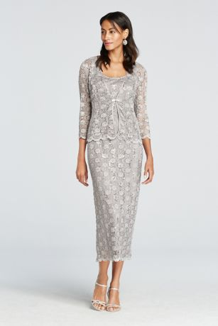 Tea Length Sheath Jacket Dress - RM Richards