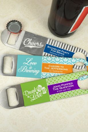 Personalized Vinyl Grip Paddle Bottle Openers